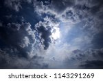 dramatic sky with gray stormy... | Shutterstock . vector #1143291269