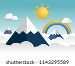 the highest mountains | Shutterstock .eps vector #1143295589