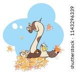 illustration funny dog playing ...   Shutterstock . vector #1143296339