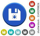infected file round color... | Shutterstock .eps vector #1143298826