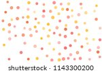 circles confetti falling on... | Shutterstock .eps vector #1143300200