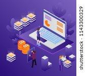 3d infographic business data... | Shutterstock .eps vector #1143300329