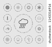 climate icon. collection of 13... | Shutterstock .eps vector #1143316916