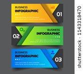 infographics template 3 options ... | Shutterstock .eps vector #1143318470