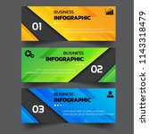 infographics template 3 options ... | Shutterstock .eps vector #1143318479