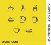 nutrition icons set with saucer ...   Shutterstock .eps vector #1143322040