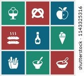 snack icon. collection of 9... | Shutterstock .eps vector #1143325316
