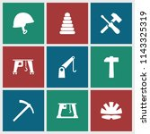 build icon. collection of 9... | Shutterstock .eps vector #1143325319