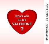 valentine day heart with text ... | Shutterstock .eps vector #1143331139