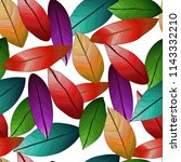 Vector Seamless Colored Leaves...