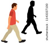isolated  flat style man is... | Shutterstock .eps vector #1143337100