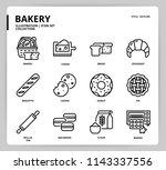 bakery icon set | Shutterstock .eps vector #1143337556