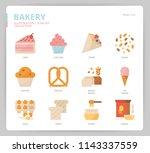 bakery icon set | Shutterstock .eps vector #1143337559