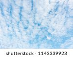 blue sky background and white...   Shutterstock . vector #1143339923