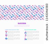 success concept with thin line... | Shutterstock .eps vector #1143346583
