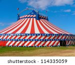 circus big top tent in field... | Shutterstock . vector #114335059