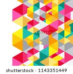 multicolored triangles abstract ... | Shutterstock .eps vector #1143351449