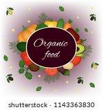 organic food. vector card   Shutterstock .eps vector #1143363830