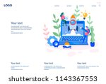 concept web design development  ... | Shutterstock .eps vector #1143367553
