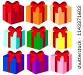vector colorful gifts. element... | Shutterstock .eps vector #1143371603