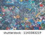 colorful of art on the wall ... | Shutterstock . vector #1143383219