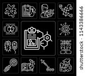 set of 13 simple editable icons ... | Shutterstock .eps vector #1143386666