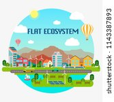 lovely ecosystem concept with... | Shutterstock .eps vector #1143387893