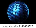 3d render metal isolated ... | Shutterstock . vector #1143403520