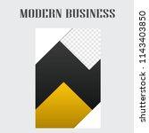 modern business flyer template... | Shutterstock .eps vector #1143403850