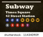 grunge new york times square... | Shutterstock . vector #114340909