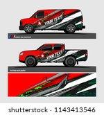 car decal  truck and cargo van... | Shutterstock .eps vector #1143413546