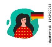 learn german vector... | Shutterstock .eps vector #1143437033