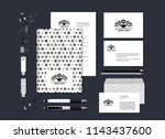 the neutral black and white... | Shutterstock .eps vector #1143437600