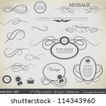 calligraphic design elements... | Shutterstock .eps vector #114343960