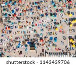 aerial summer view of crowded... | Shutterstock . vector #1143439706