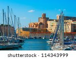 the old vieux port of marseille ... | Shutterstock . vector #114343999