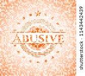 abusive orange mosaic emblem... | Shutterstock .eps vector #1143442439