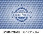 genuine product blue emblem... | Shutterstock .eps vector #1143442469