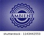 ambient emblem with denim high... | Shutterstock .eps vector #1143442553
