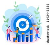 concept reach the target for... | Shutterstock .eps vector #1143448886