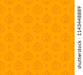 halloween festive seamless... | Shutterstock .eps vector #1143448889