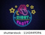 night party. textured... | Shutterstock .eps vector #1143449396
