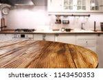 browen wooden table of free... | Shutterstock . vector #1143450353