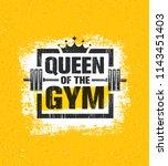 inspiring woman female workout... | Shutterstock .eps vector #1143451403