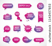 vector stickers  price tag ... | Shutterstock .eps vector #1143457853