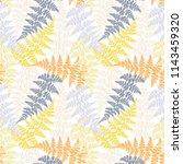 fern frond herbs  tropical... | Shutterstock .eps vector #1143459320