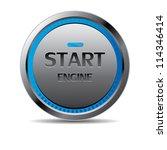 start engine button vector | Shutterstock .eps vector #114346414