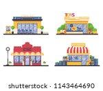 kids shop store front... | Shutterstock .eps vector #1143464690