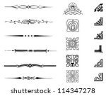 typographic set | Shutterstock .eps vector #114347278