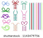 shoelaces vector shoestring or... | Shutterstock .eps vector #1143479756